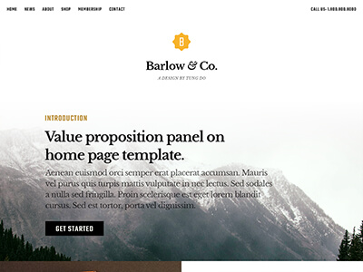 Barlow design preview